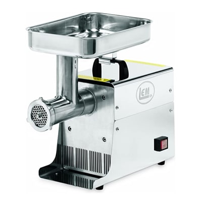 LEM 8 Lb .35 HP Stainless Steel Electric Meat Grinder for bones