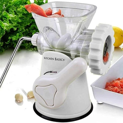 Kitchen Basics 3 N 1 Manual Meat and Vegetable Grinder under $100