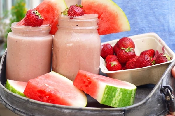 Watermelon Strawberry Smoothie