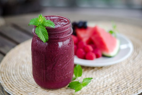 Watermelon Blueberry Smoothie