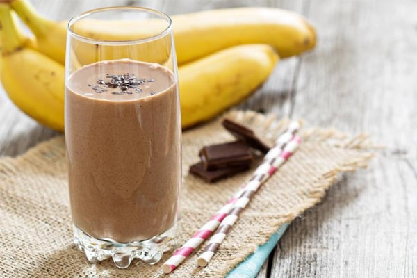 Tofu Smoothies For Weight Loss, Banana-Cocoa Soy Smoothie