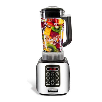 Nutrichef KB64 Digital Electric Kitchen Professional 1.7 Liter Capacity Countertop, 64Oz, Black Blender