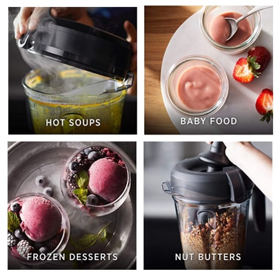 Food processing ratings of the Vitamix 750 blender